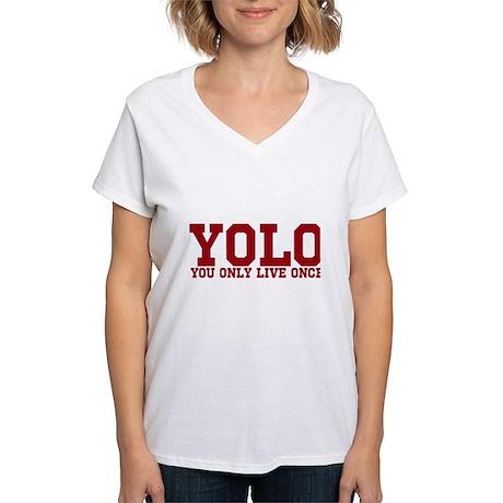 YOLO Women's V-Neck T-Shirt