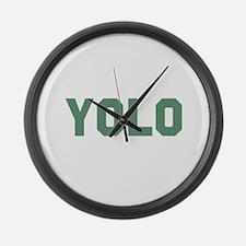 YOLO Large Wall Clock