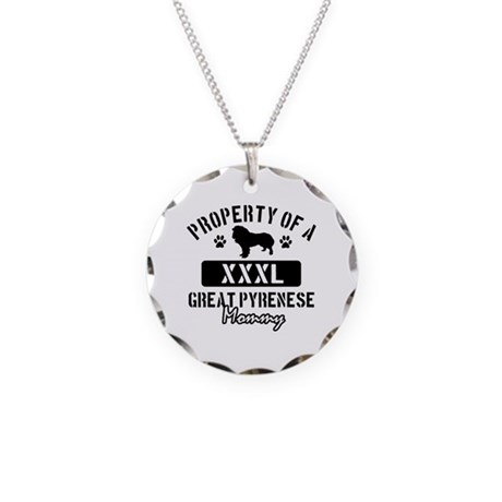 Great Pyrenese Mommy Necklace Circle Charm