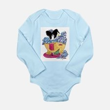 Cute Papillion Long Sleeve Infant Bodysuit