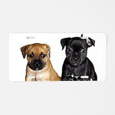 Staffie puppies Aluminum License Plate