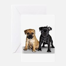 Staffie puppies Greeting Card