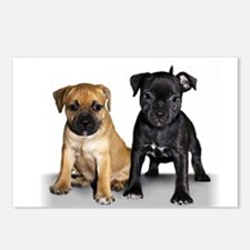 Staffie puppies Postcards (Package of 8)