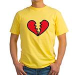 Broken Heart Yellow T-Shirt