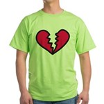 Broken Heart Green T-Shirt