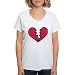 Broken Heart Women's V-Neck T-Shirt