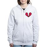 Broken Heart Women's Zip Hoodie