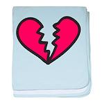 Broken Heart baby blanket