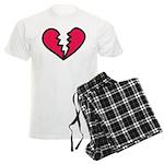 Broken Heart Men's Light Pajamas