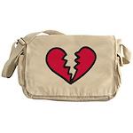 Broken Heart Messenger Bag