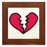 Broken Heart Framed Tile