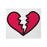 Broken Heart Throw Blanket