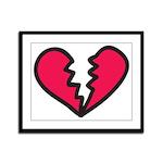 Broken Heart Framed Panel Print