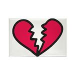 Broken Heart Rectangle Magnet (100 pack)