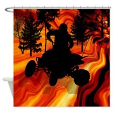 ATV on the Road From Hell Shower Curtain