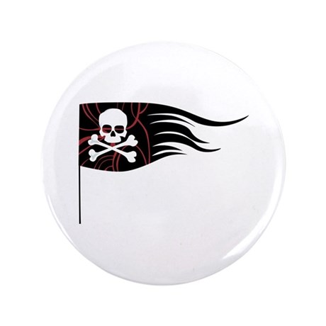 "Pirate Flag 3.5"" Button"