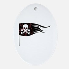 Pirate Flag Ornament (Oval)