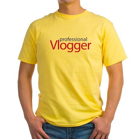 Professional Vlogger Yellow T-Shirt