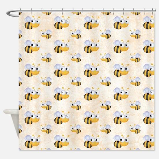 Cute Bee Shower Curtain