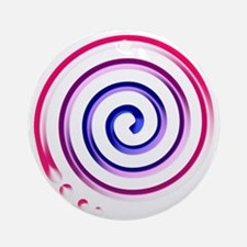 bi spiral Ornament (Round)