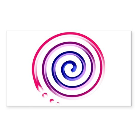 bi spiral Rectangle Sticker