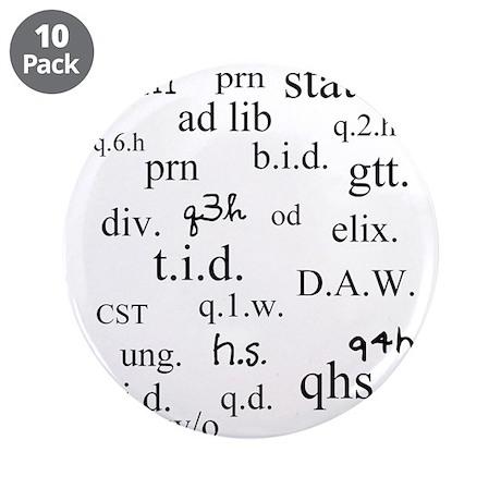 """PharmD Student 3.5"""" Button (10 pack)"""