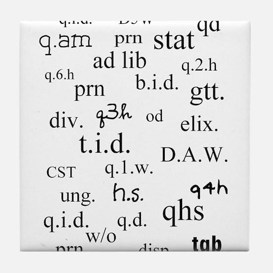 PharmD Student Tile Coaster