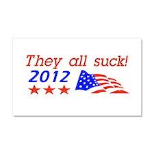 Funny Anti Politics Design Car Magnet 20 x 12