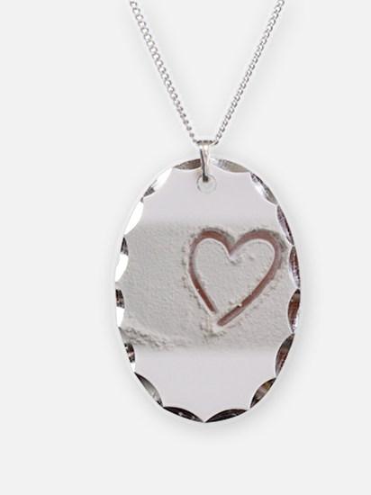 Beach Wedding Heart of Sand Necklace