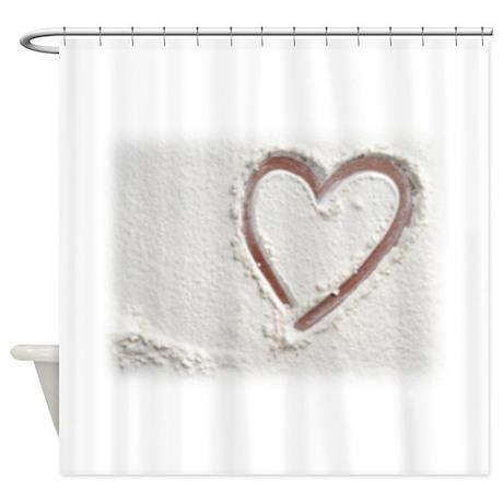 Beach Wedding Heart of Sand Shower Curtain