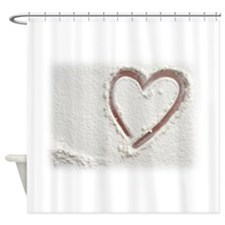 Beach Wedding Heart of Sand Shower Curtain