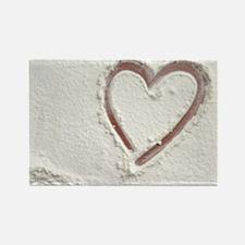 Beach Wedding Heart of Sand Rectangle Magnet