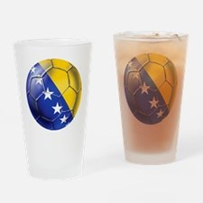 Bosnia Football Drinking Glass