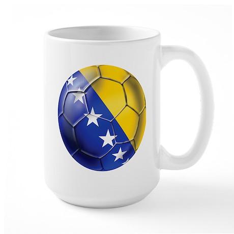 Bosnia Football Large Mug