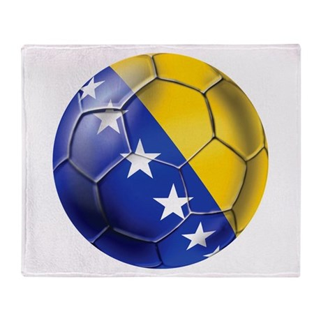 Bosnia Football Throw Blanket