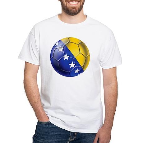 Bosnia Football White T-Shirt