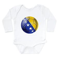 Bosnia Football Long Sleeve Infant Bodysuit