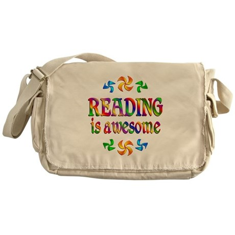 Reading is Awesome Messenger Bag