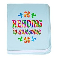 Reading is Awesome baby blanket