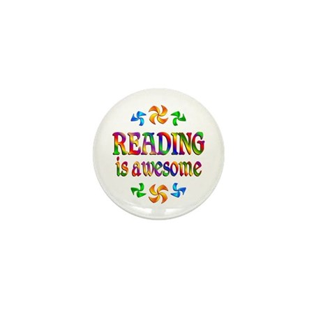 Reading is Awesome Mini Button (100 pack)
