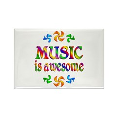 Music is Awesome Rectangle Magnet (10 pack)
