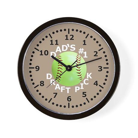 Kids Softball Wall Clock