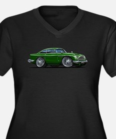 DB5 Green Car Women's Plus Size V-Neck Dark T-Shir
