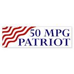 50 mpg patriot (flag bumper sticker)