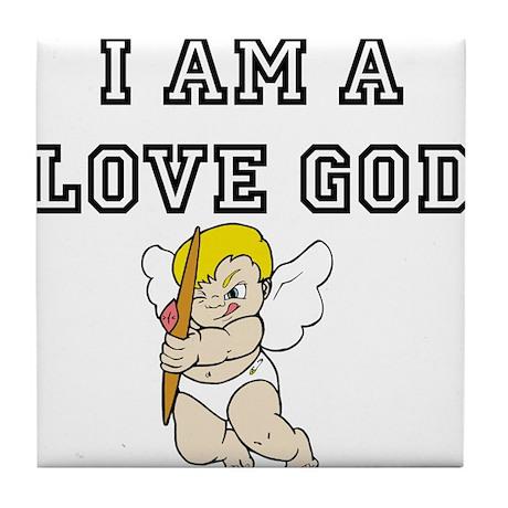 Love God Tile Coaster