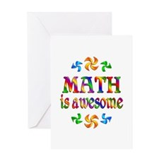 Math is Awesome Greeting Card