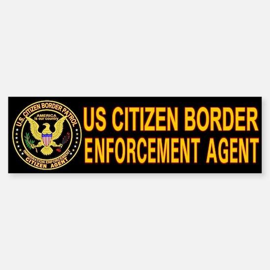Citizen Border Patrol - Bumper Bumper Bumper Sticker