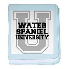 Water Spaniel UNIVERSITY baby blanket