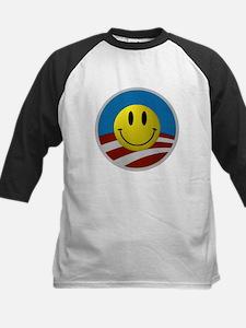 Obama Smiley Logo Kids Baseball Jersey