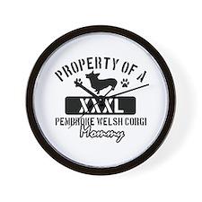 Pembroke Welsh Corgi Mommy Wall Clock